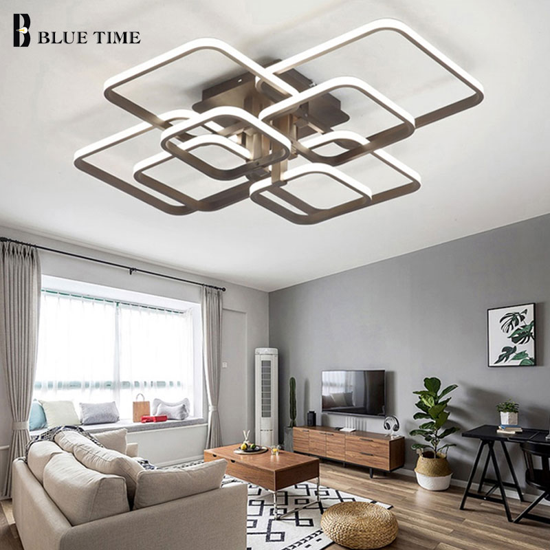 Lights & Lighting Luminaires Led Ceiling Lights For Dining Room Living Room Bedroom Kitchen Lamp Black&white/&coffee Frame Modern Led Ceiling Lamp 2019 Latest Style Online Sale 50% Ceiling Lights & Fans