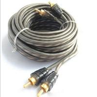 순수 구리 케이블 12 v 5 m 1 pcs 자동차 오디오 앰프 rca 오디오 케이블에 rca 설정 전원 케이블 스피커 와이어