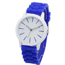 Fashion Women and Men in Lovers Watch Unisex Silicone Strap