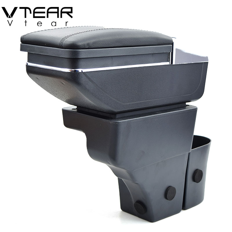 Vtear For nissan note armrest box central Store content box products interior Armrest Storage car styling