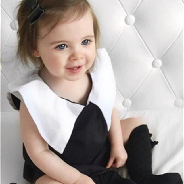 2016 Nova Meninas Pequeno Vento Perfumado Em Linha Reta de Moda Clássico Preto E Branco Vestido de Colete Vestido Sem Mangas Na Europa E América