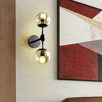 Artpad Europäischen Industrie LED Indoor Wand Lampen 1 Oder 2 Kopf Kreative Glas Ball Wand Licht Für Home Hotel Kaffee bar Leuchten-in LED-Innenwandleuchten aus Licht & Beleuchtung bei