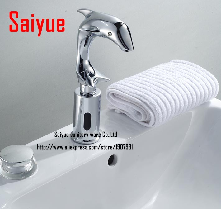 Dolphin Automatic Hands Free Brass Bathroom Sink Tap Sensor Touchless Faucet  Animal Mixer 8839 In Basin Faucets From Home Improvement On Aliexpress.com  ...