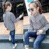 Children Basic Shirt New 2017 Baby Girl Stripe Blouses Kids Patchwork Shirt Cute Long Sleeve