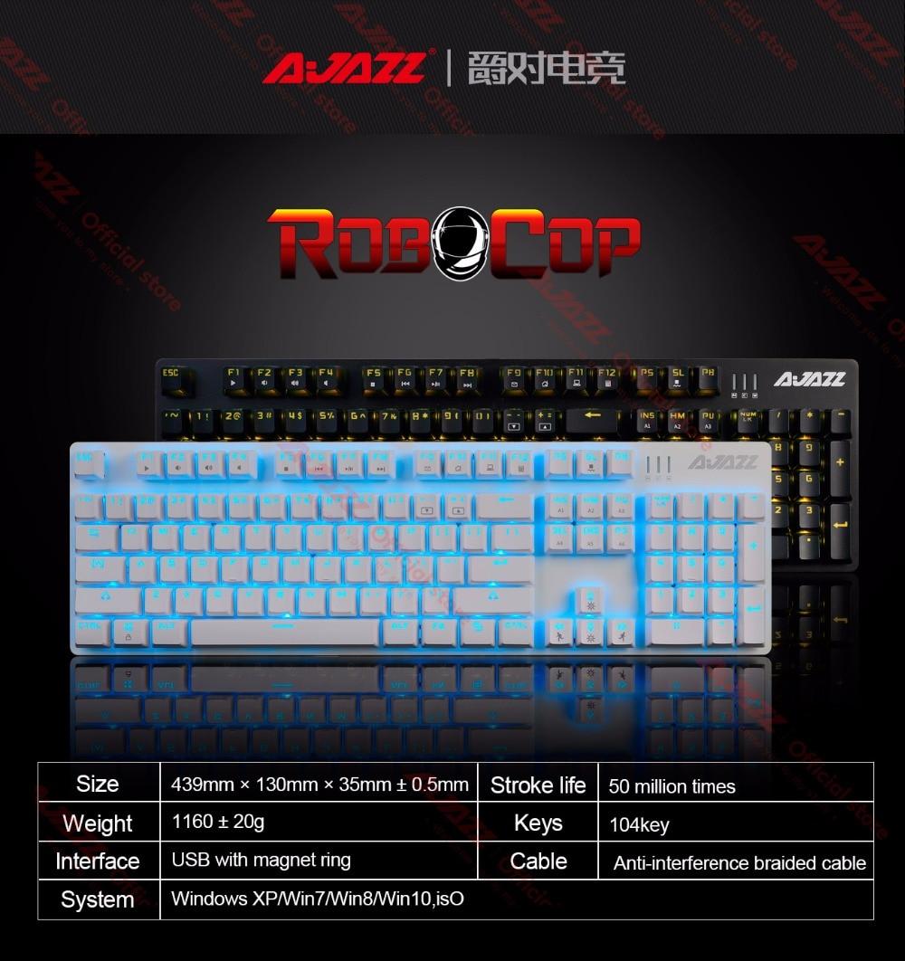 backlight anti-ghosting n-chave rollover marrom preto vermelho azul switches