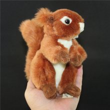 Animal Simulation Toy Squirrel Plush Stuffed Dolls Small Toys Schattige Knuffel Kids Doll Decoration Mariage Baby Gift 50G0426
