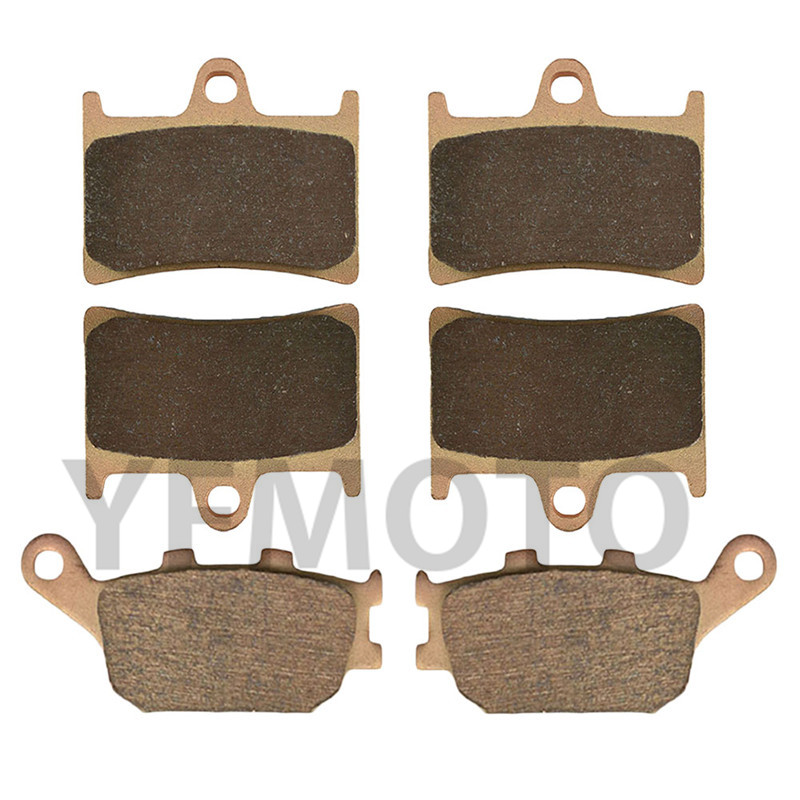Motorcycle Front & Rear Brake Pads Kit For FZ8 FZ 8 Single Headlight 2011-2015 12 13 14  Brake Disks motorcycle brake pads ceramic composite for triumph 800 tiger 2011 2014 front rear oem new high quality zpmoto