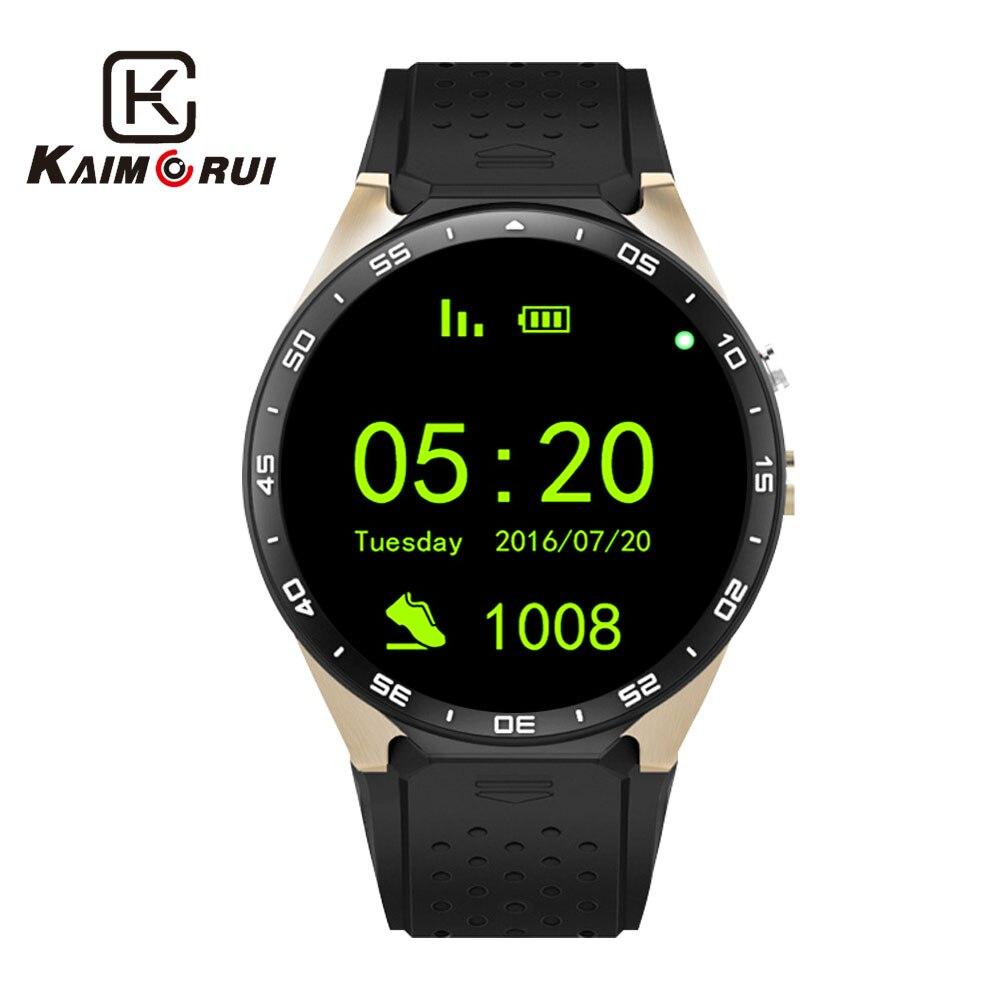 Kaimorui montre intelligente Android 5.1 Bluetooth Smartwatch MTK6580 avec carte SIM GPS WiFi 512 mo + 8GB montre téléphone pour téléphone Android IOS