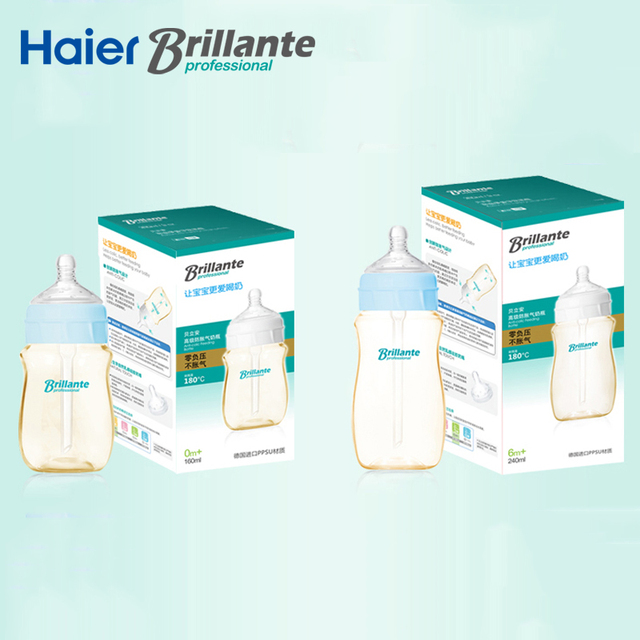 Haier Brillante PPSU Anti-colic Baby Bottles – Macaroon Series