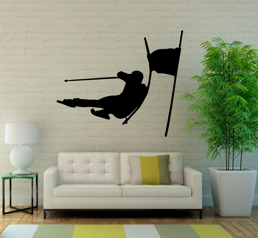 Removable Extreme Winter Sports Wall Decals Skiing Boys Bedroom Living Room Low Body The movement of desirable SYY237