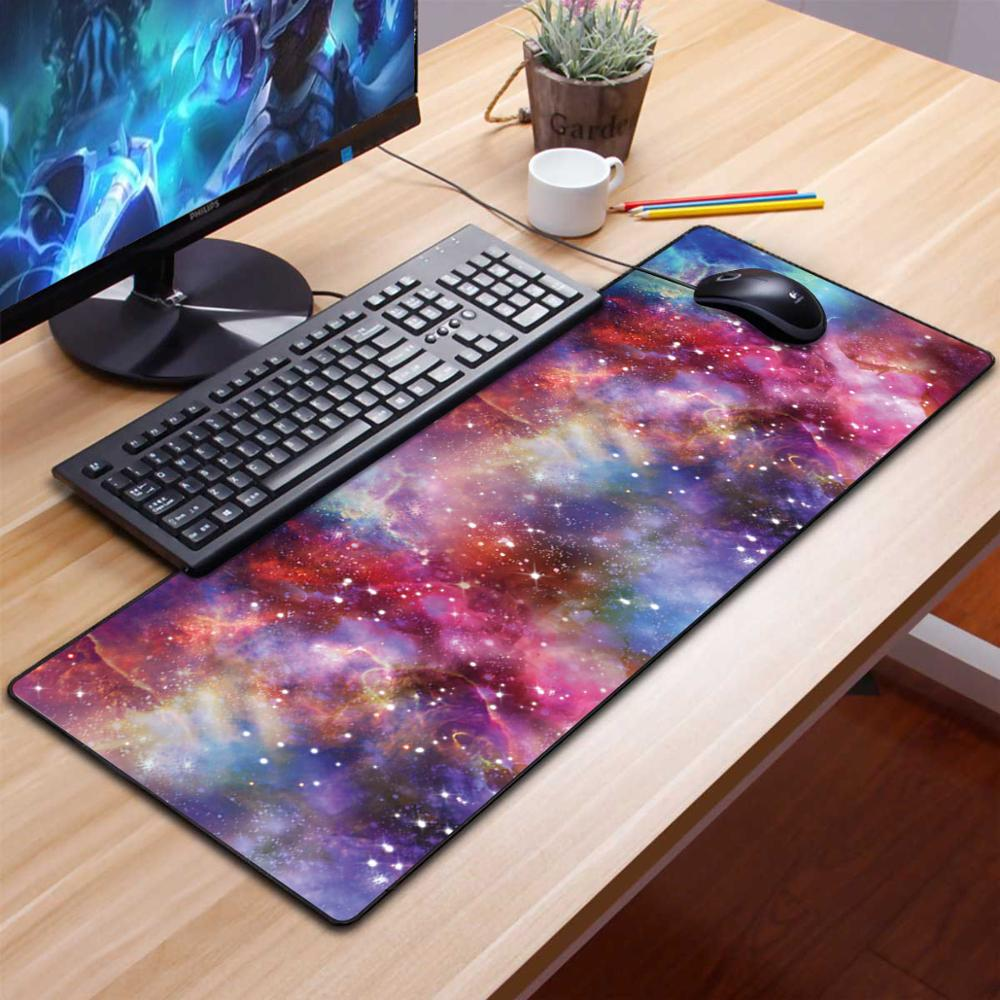 Large Gaming Mouse Pad Gamer Solid Color Locking Edge Keyboard Mouse Mat Gaming Desk Mousepad