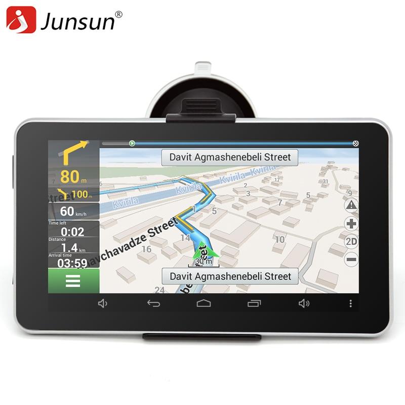 Junsun  Inch Car Gps Navigation Android Bluetooth Wifi Russia Naviteleurope Map Truck Vehicle