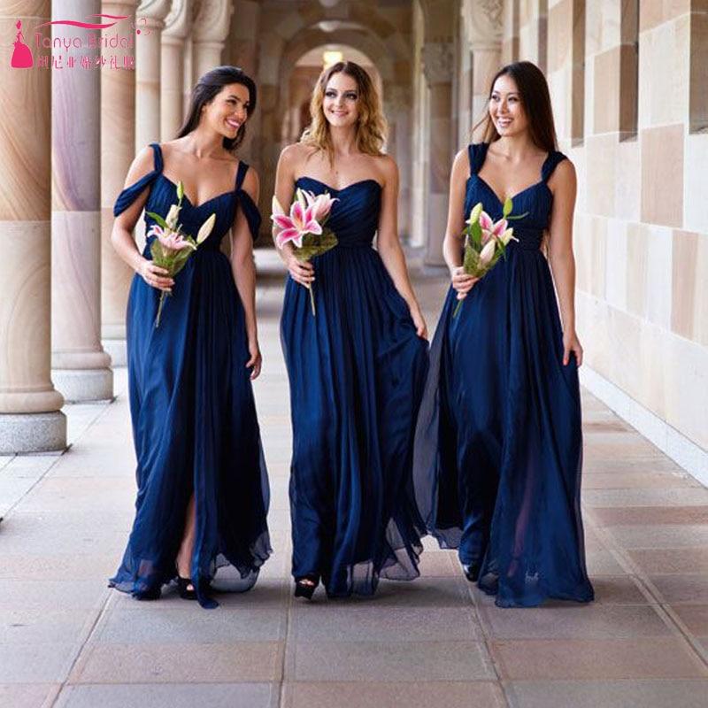 Aliexpress.com : Buy Dark Blue Bridesmaid Dress Off ...
