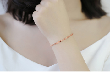 Pure 18K Yellow Rose Gold Bracelet Au750 Phoenix tail Link Extension O Word chain For Women Female Fashion Authentic New 19.5cm 4