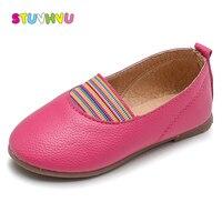 الأطفال أحذية الفتيات أحذية 2018 ماركة واحدة الربيع الصيف أزياء أطفال قوس قزح الشقق الناعمة أميرة الأحذية المرنة للفتيات المد