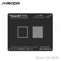 Jyrkior qianli processador cpu a7/a8/a9/a10/a11 módulo bga reballing estêncil preto planta de aço estanho net para iphone 5/6/6sp/7g/7 p/8|Conjuntos ferramenta manual| |  -