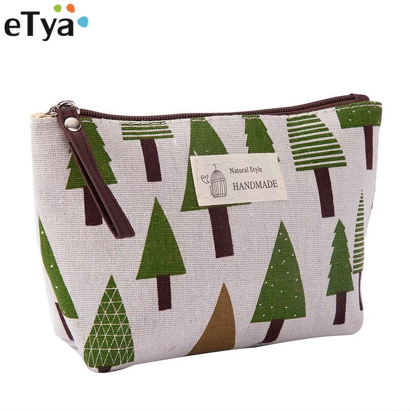 ETya Fashion Travel Cosmetic Bag Organizer Women Zipper Makeup Bag Female Small Necessity Beauty Handbag Purse Pencil Bag