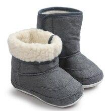 Зимняя Теплая обувь для маленьких мальчиков и девочек; детские зимние ботинки на мягкой подошве; мягкая обувь для малышей; кожаные ботинки для мальчиков;#3