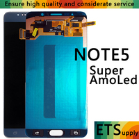 ORIGINAL 5.7'' Super AMOLED LCD for SAMSUNG Galaxy Note 5 LCD Display Note5 N920A N9200 SM N920 N920C Touch Screen Digitizer