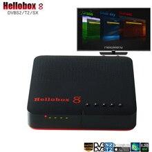 Hellobox 8 receptor da tevê satélite DVB T2/s2 receptor jogo superior da caixa no receptor h.265 10bit do apoio do receptor do telefone móvel