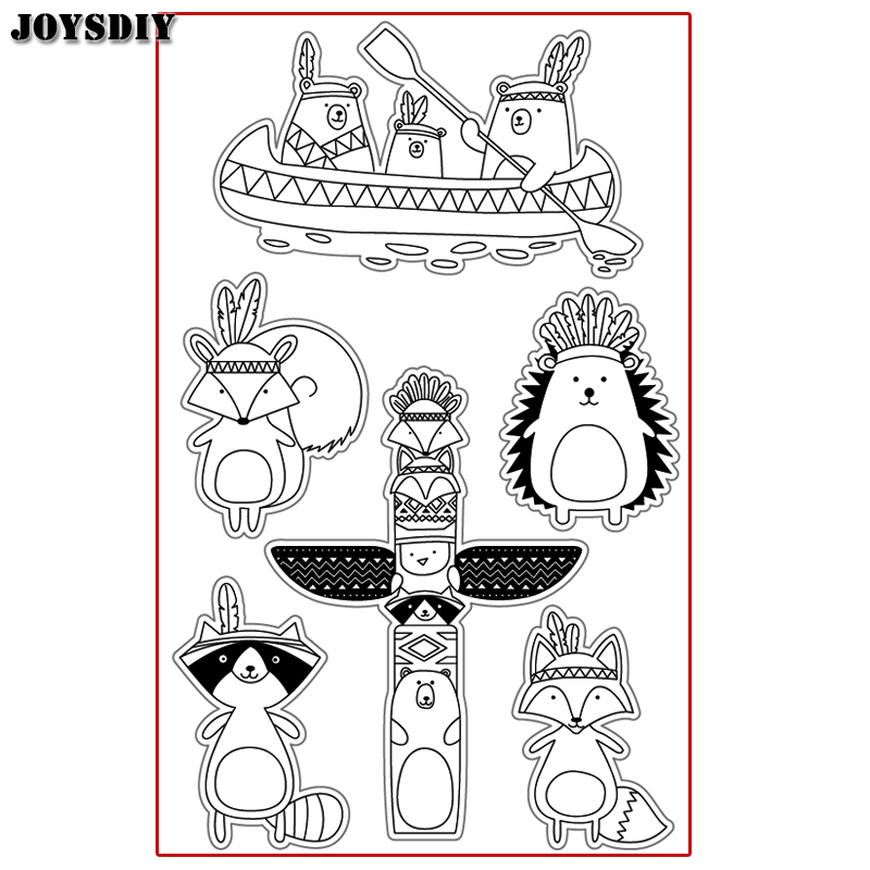 CUTE INDIANA ANIMALS INDIANA FOX Scrapbook DIY photo cards account rubber stamp clear stamp transparent Handmade card stamp scrapbook diy photo cards account rubber stamp clear stamp transparent stamp handmade card stamp classical flower background