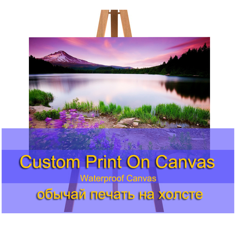 Canvas Painting Custom Poster Nordic Landscape Wall Photo Print Camera Instant Giclee