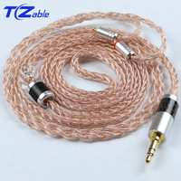 Jack 3.5mm Audio Cable Earphone For MMCX se215 se315 se535 se846 Headset Hifi Headphone Upgrade Cable Crystal Copper Line