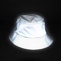 Aolamegs erkek kadın hip hop 3 m yansıtıcı kova şapka açık sporting yüksek görünürlük kova şapka unisex rahat balıkçılık şapka kap