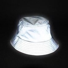 Aolamegs男性女性ヒップホップ反射バケツ帽子屋外スポーツ高可視性バケツ帽子ユニセックスカジュアル釣り帽子キャップ