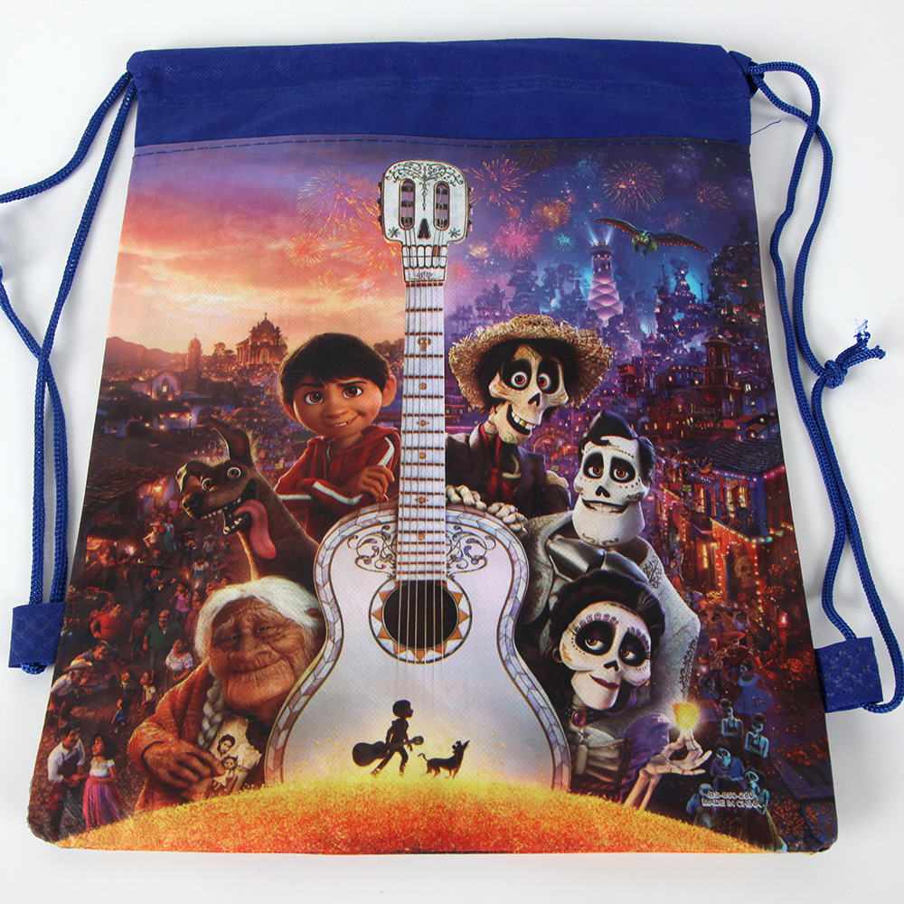 Disney Coco Kids Non-Woven Drawstring Bag Children Backpack Gym Bag Party Bag