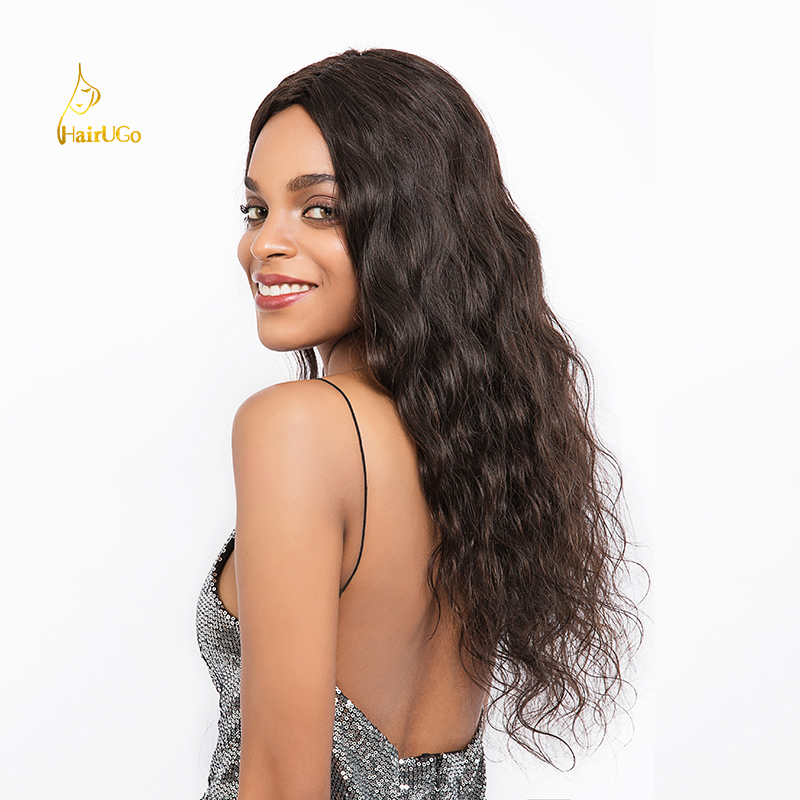 HairUp Peruvian Pre-Colored Body Wave Human Hair With Closure # 1b 3 - Mänskligt hår (svart)