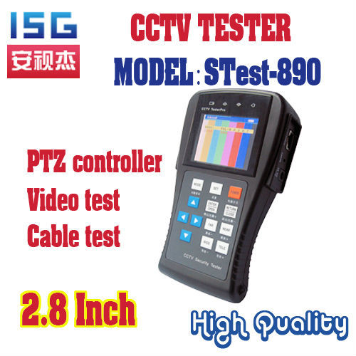Stest-890 2.8 inch  LCD Display CCTV Security Tester multi-function CCTV Tester used for Surveillance  system