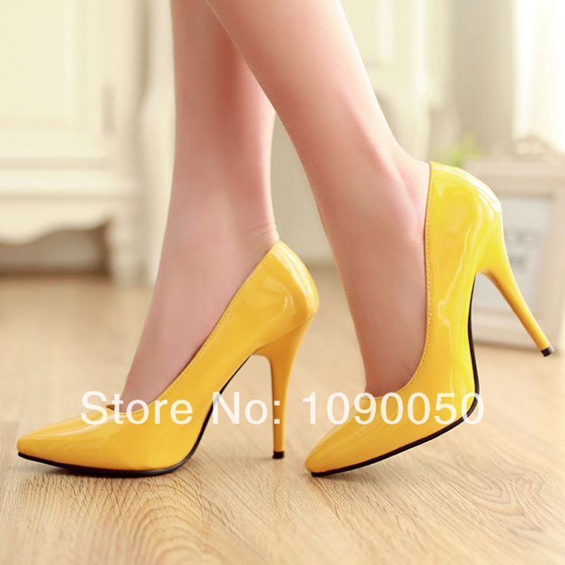 Spring and autumn sexy ultra high heels single shoes pointed toe heels thin candy color pumps wedding shoes plus 33 34 35-42 43 8cm 2015 spring and autumn single shoes cutout hasp pointed toe high heels ol thin female fashion sandals