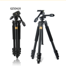 QZSD Q620 Professional Aluminum Alloy Flexible Portable Travel Tripod Head Ball Quick Release Plate SLR Aaction Camera Holder professional q 668 pro slr camera aluminum alloy traveling tripod monopod with qzsd 02 changeable portable ball head 20%