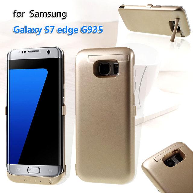 Caso para samsung s7 edge caso 6800 mah cargador de batería de reserva cubierta para samsung galaxy s 7 edge g935 cubierta del bolso del teléfono móvil