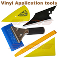 5 IN 1 Car Window Tint Vinyl Film Wrapping Installing Tools Handled Rubber Squeegee 3D Carbon Firber Squeegee Scraper AT034