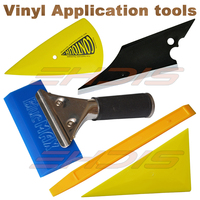 EHDIS Car Window Tint Tools Kit Vinyl Car Wrap Set Handled Rubber Squeegee 3D Carbon Fiber Squeegee Scraper for Car Cleaning