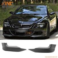 Fit 2006 2007 2008 2009 2010 BMW E63 E64 M6 2DR Carbon Fiber Front Bumper Lip Splitter 2 PCS AC S Style
