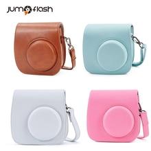 Jumpflash Mini Camera Case para Fujifilm Instax Mini 8/8 mini9 Soft PU de Couro Protetora Caso Colorido com Alça de Ombro