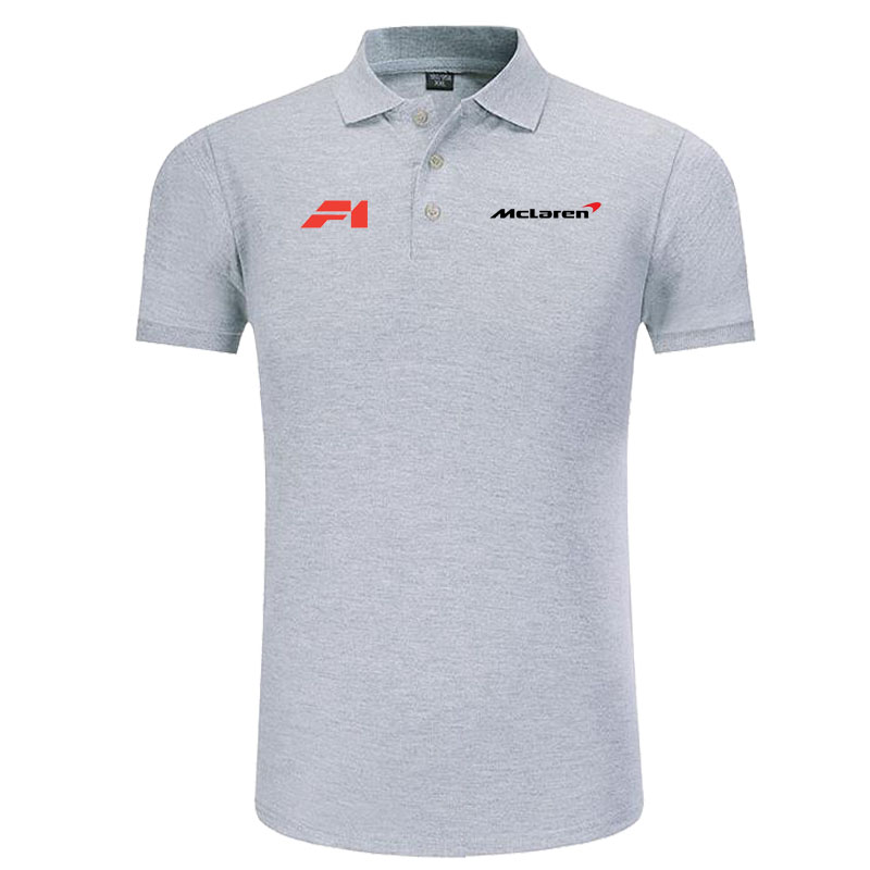 McLaren logo   Polo   Shirt Men Brand Clothes Solid Color   Polos   Shirts Casual Cotton Short Sleeve   Polos