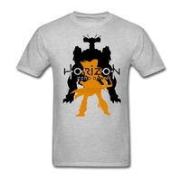 T Shirts Mens Horizon Zero Dawn Machine and Aloy Shirt Hot Selling Awesome Custom T Shirt Teenager Tops