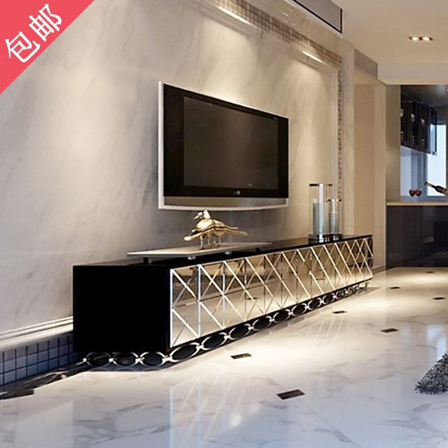 Free Shipping Tv Cabinet To Modern Minimalist European Residential Furniture Gl Mirror Can Be Customized