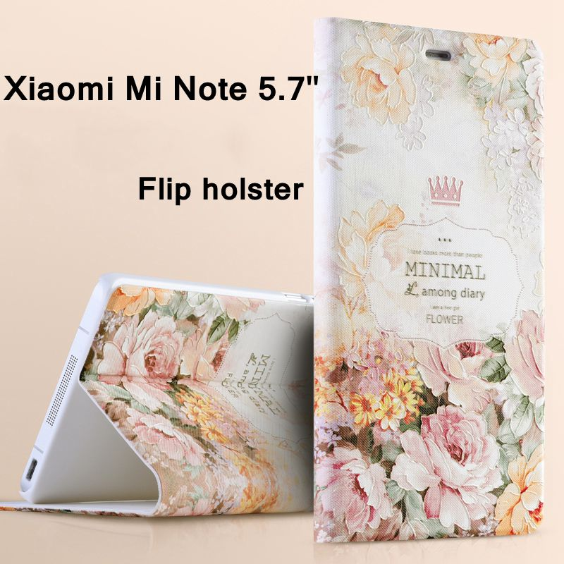 For Xiaomi Mi Note Pro Phone Cases 3D Colored Painted Luxury Flip bracket Mobile Phone Bags
