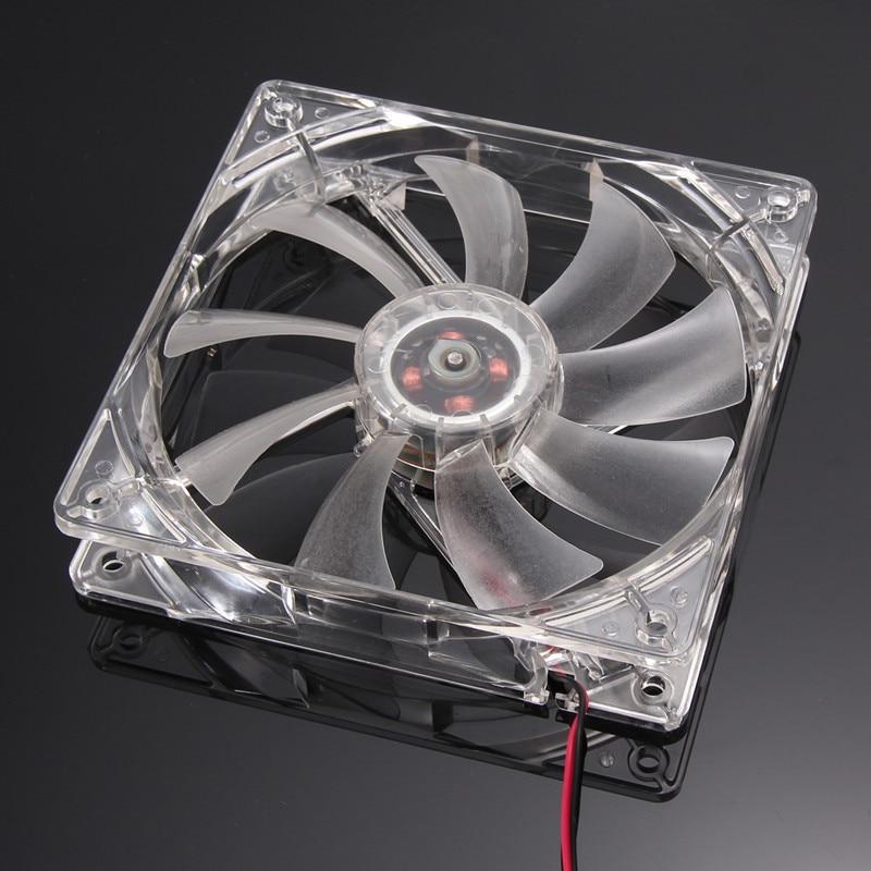 Haushaltsgeräte 4 Pin Pc Computer Klar Fall Quad 4-led Licht 9-klinge Cpu Lüfter