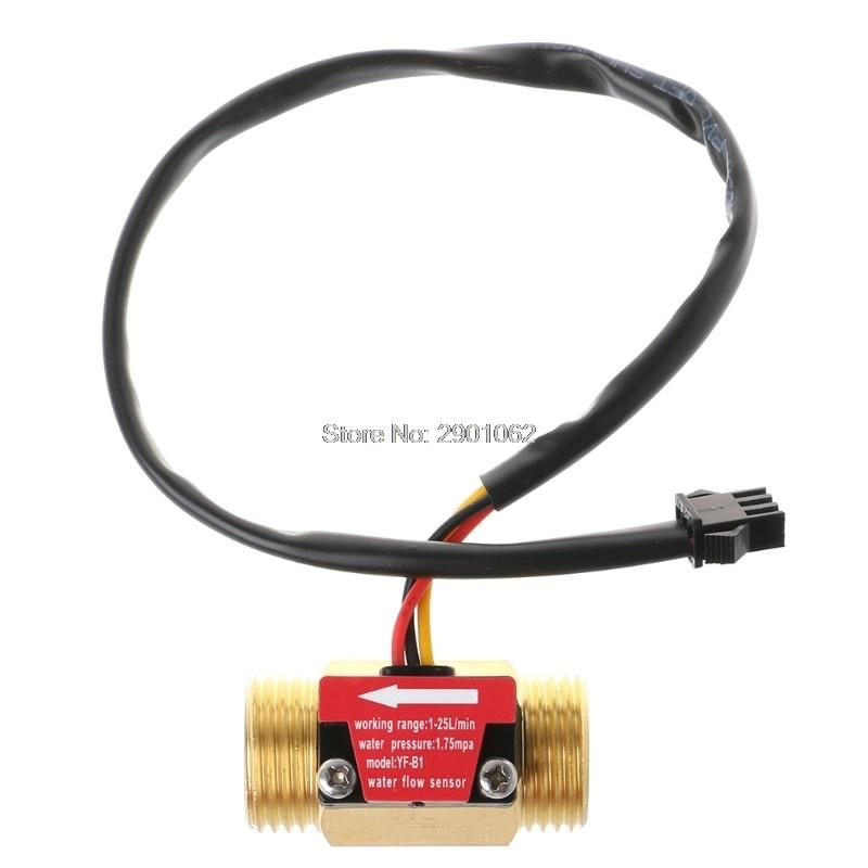 Flow Sensor G1/2 wasser Flow Halle Sensor Schalter 1-25l/min Durchflussmesser Ap16 Werkzeuge