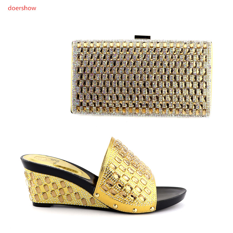 doershow New Arrival Italian Shoes and Bag Set Ladies High Quality Women Shoe and Bag To Match For Party wedding QV1-6 рамка для фото image art 6020 6 4s