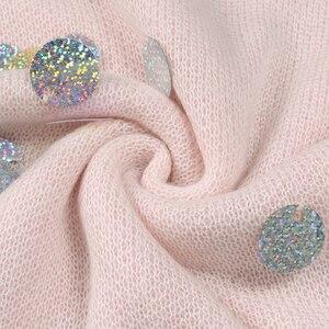 Image 4 - Jerséis largos de punto holgados con lentejuelas y cuentas de primavera para mujer 2020, jerséis finos de manga larga a la moda para mujer, Jersey informal C 058