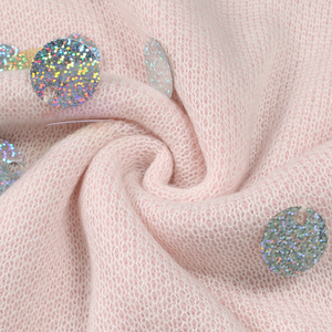Image 4 - Spring Beading Sequins Loose Knitted Long Sweaters Women 2020 Fashion Long Sleeve Ladies Thin Pullovers Casual Jersey C 058