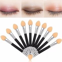 12Pcs Makeup Double-end Eye Shadow Eyeliner Brush Sponge Applicator Tool cosmetic eyeshadow brush