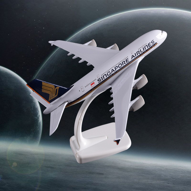 20cm A380 Singapore Airlines Aircraft Model Airplane Airbus Airways Model Metal Decoration Crafts Travel Aviation Souvenir Gift